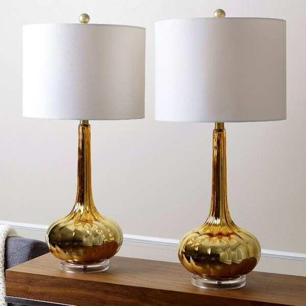 Shop Abbyson Antique Gold Mercury Glass 28 Inch Table Lamp Set Of 2