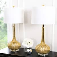 Abbyson Antique Gold Mercury Glass 28-inch Table Lamp (Set of 2)