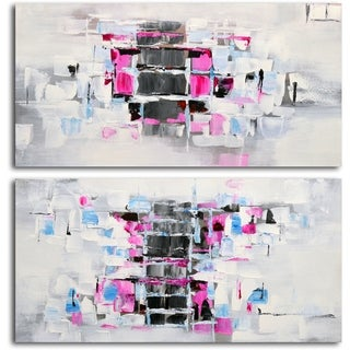 'Extrovert and Introvert' Original Painting on Canvas - Set of 2