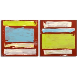 'Choosing Hues' Original Painting on Canvas - Set of 2