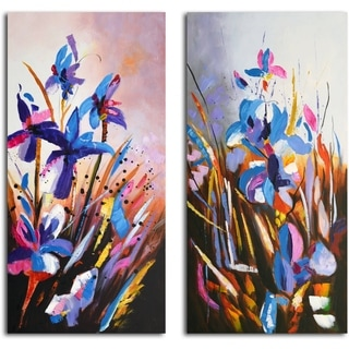 'Iris of My Eye' Original Painting on Canvas - Set of 2