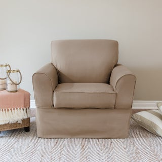 Twill Two Piece Wrap Chair Slipcover