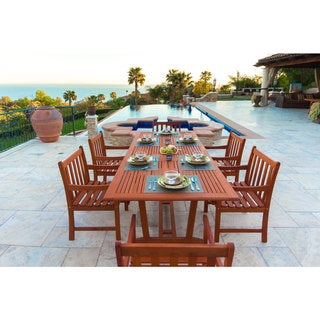 Havenside Home Surfside Eco-friendly 7-piece Eucalyptus Outdoor Dining Set