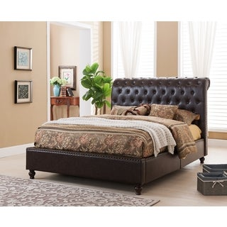 Norman Tufted Modern Platform Bed with Upholstered Headboard