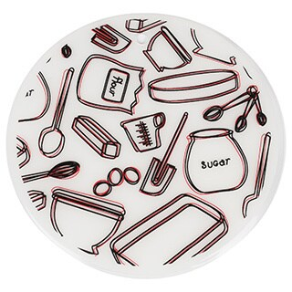 Sweet Home Collection 7.5-inch Round Silicone Trivet Set Takes the Cake Design (Set of 2)