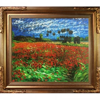 Vincent Van Gogh Field of Poppies Hand-painted Framed Canvas Art