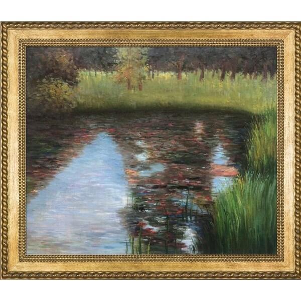 Gustav Klimt The Swamp Hand-painted Framed Canvas Art