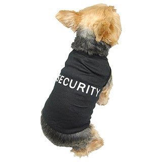 ANIMA Soft Ribbed Cotton Security T-shirt Tank Top for Dogs