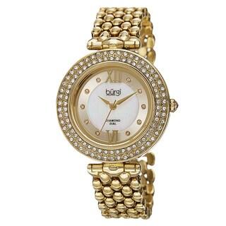 Burgi Women's Swiss Quartz Diamond Markers Alloy Bracelet Watch with FREE GIFT|https://ak1.ostkcdn.com/images/products/10061900/P17206961.jpg?_ostk_perf_=percv&impolicy=medium