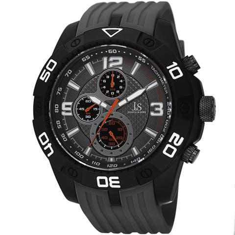 Joshua & Sons Men's Quartz Chronograph Tachymeter Grey Strap Watch