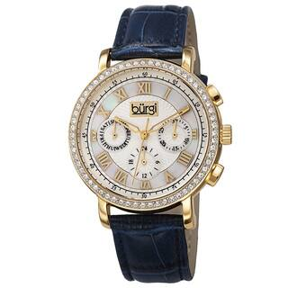 Burgi Ladies Swiss Quartz Multifunction Dual-Time Leather Blue Strap Watch with FREE GIFT https://ak1.ostkcdn.com/images/products/10061991/P17207004.jpg?impolicy=medium