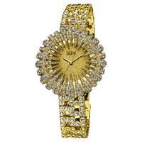 Burgi Women's Dazzling Crystal-Accented Quartz Bracelet Watch