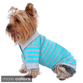 Stripe Polo Pet T-Shirt