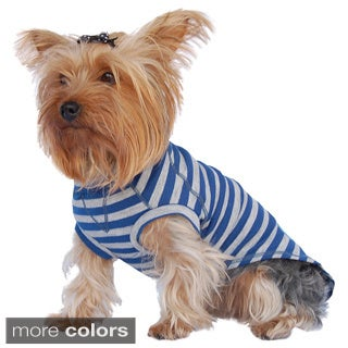 ANIMA Striped Cotton Raglin Style Pet Shirt