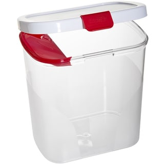 Progressive International Prepworks Red and Whtie Flour Keeper with Built-in Leveler