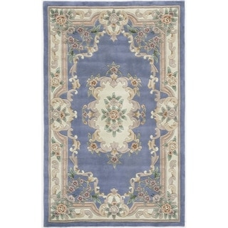 Heritage Floral Light Blue Area Rug (4' x 6')