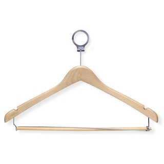 24-pack Maple Hotel Hangers with Locking Bar