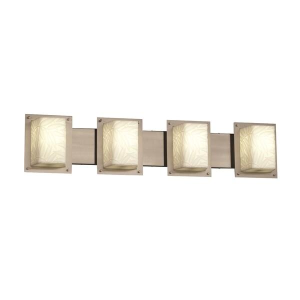 Justice Design Group Framed 4-Light Bath Bar, Nickel