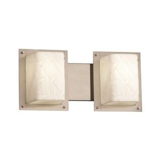 Justice Design Group Framed 2-Light Bath Bar, Nickel