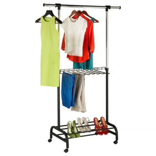 Honey Can Do GAR-03397 Adjustable Expandable Garment Valet Rack