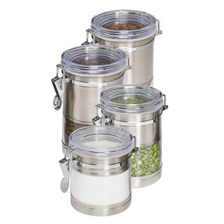 Honey-Can-Do KCH-01310 Stainless Steel and Acrylic Canister Containers, 4-Pack|https://ak1.ostkcdn.com/images/products/10062108/P17207063.jpg?_ostk_perf_=percv&impolicy=medium