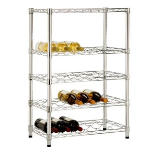 Honey Can Do 24-bottle Wine Rack 5-tier and Cradles
