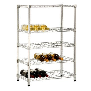 Porch & Den Stowe Winterbird 24-bottle Wine Rack