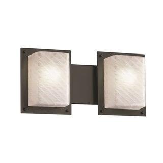 Justice Design Group Fushion Framed 2-Light Bath Bar, Black