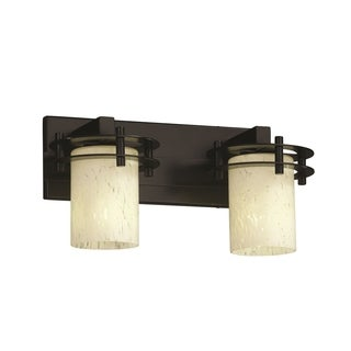 Justice Design Group Fushion Circa 2-Light Bath Bar, Black