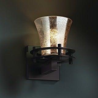 Justice Design Group Fushion Circa 1-Light Sconce, Bronze with Mercury