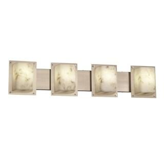 Justice Design Group LumenAria Framed 4-Light Bath Bar, Nickel