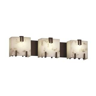 Justice Design Group LumenAria Triple Clips 3-Light Bath Bar, Bronze