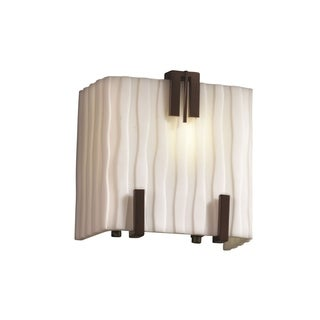 Justice Design Group Triple Clips 1-Light Sconce, Bronze