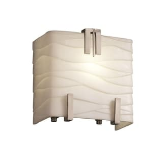 Justice Design Group Triple Clips 1-Light Sconce, Nickel with Waves