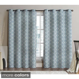 VCNY Alexander 84-inch Blackout Printed Curtain Panel Pair