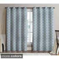 VCNY Alexander Grommet Top 96-inch Blackout Printed Curtain Panel Pair