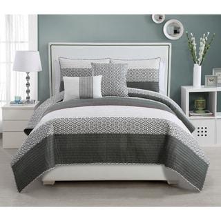 VCNY Nova Demin 5-piece Quilt Set