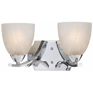 Lumenno Transitional 2-light Chrome Bath/Vanity Light