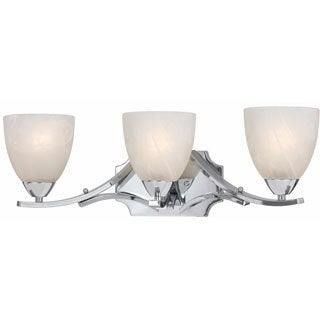 Lumenno Transitional 3-light Chrome Bath/Vanity Light