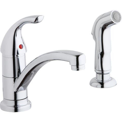 Elkay Everyday Two Hole Deck Mount Kitchen Faucet with Lever Handle and Side Spray Chrome - 2-1/4 x 9-3/4 x 7-3/8