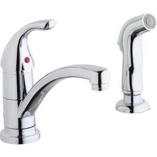 Elkay Single Lever Kit with Spray Chrome Kitchen Faucet