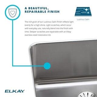 Elkay 18-gauge Stainless Steel Single Bowl Undermount Bathroom Sink