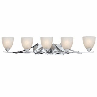 Lumenno Transitional 5-light Chrome Bath/Vanity Light
