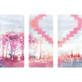 Marmont Hill 'iHeart Triptych' Canvas Art
