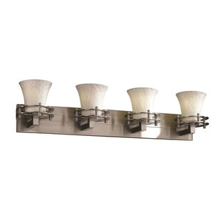Justice Design Group Limoges Circa 4-Light Bath Bar, Nickel