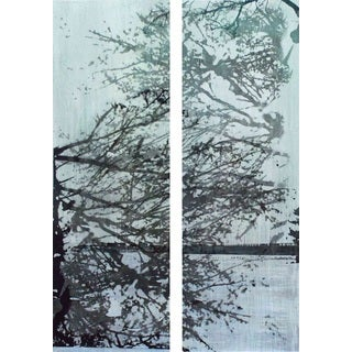 Marmont Hill 'Tree Branches Diptych' Canvas Art - Multi-color