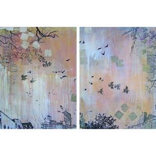 Marmont Hill 'Platinum Tempest Diptych' Canvas Art