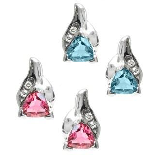 Michael Valitutti 14k White Gold Trillion-cut Gemstone Diamond Accent Earrings