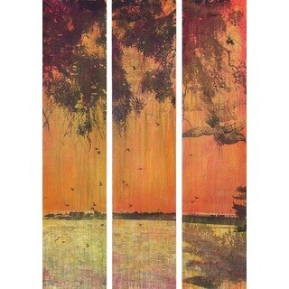 Marmont Hill 'Orange Sunset Triptych' Canvas Art - Multi-color (3 options available)