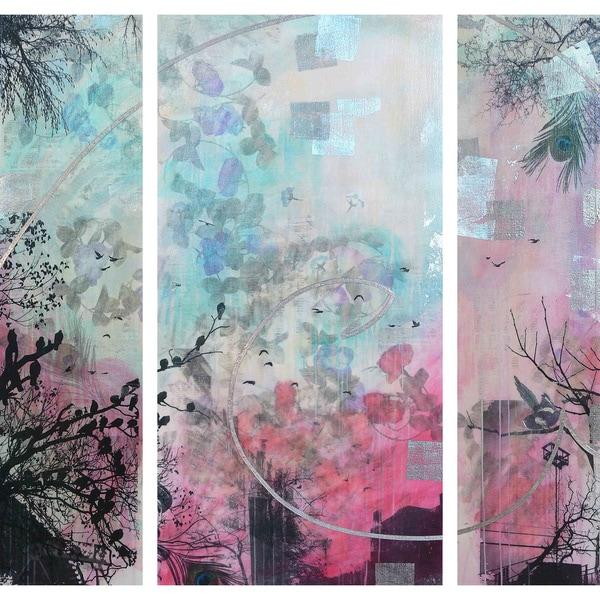 Marmont Hill 'Infinitus Triptych' Canvas Art - Multi-color